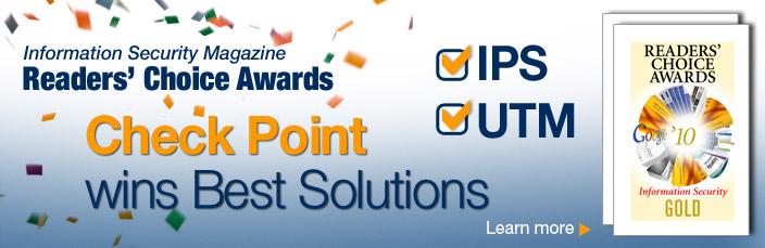 Решения Check Point IPS и UTM признаны лучшими