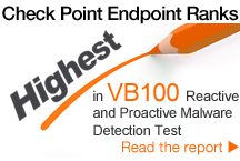 Check Point Endpoint Ranks Highest in VB100 Reactive and Proactive Malware Detection Test